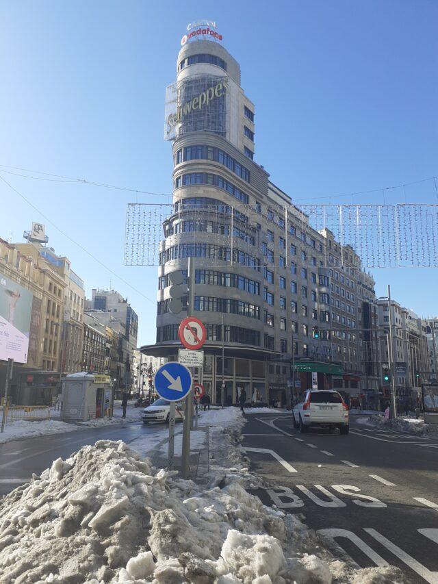 nevada histórica en madrid nieve sucia
